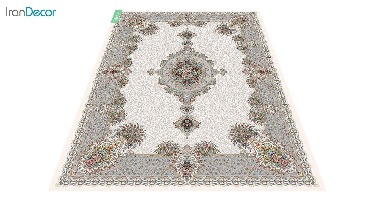 عکس فرش ماشینی 700 شانه کشمیر طرح می گل کرم