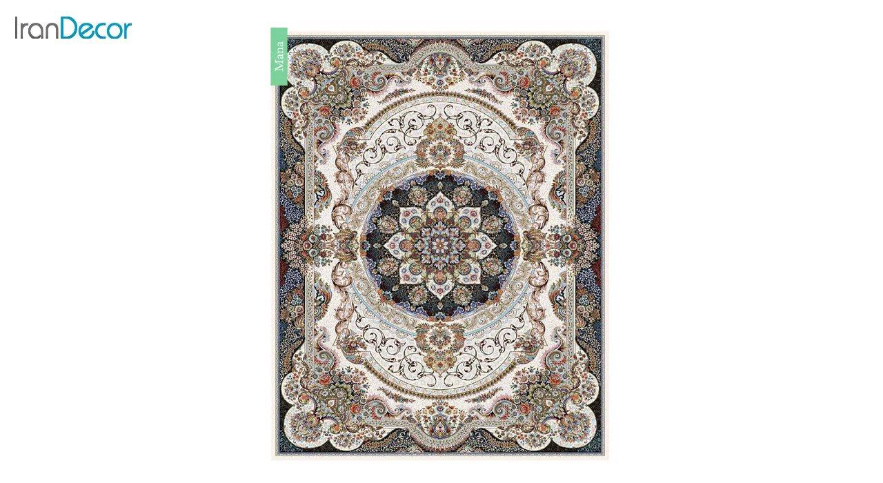 تصویر فرش ماشینی 700 شانه کشمیر طرح مانا کرم