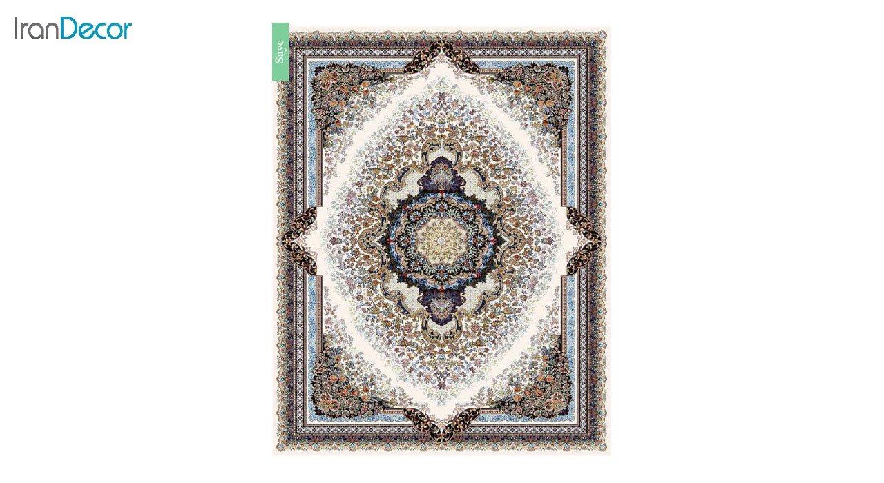 تصویر فرش ماشینی 700 شانه کشمیر طرح سایه کرم