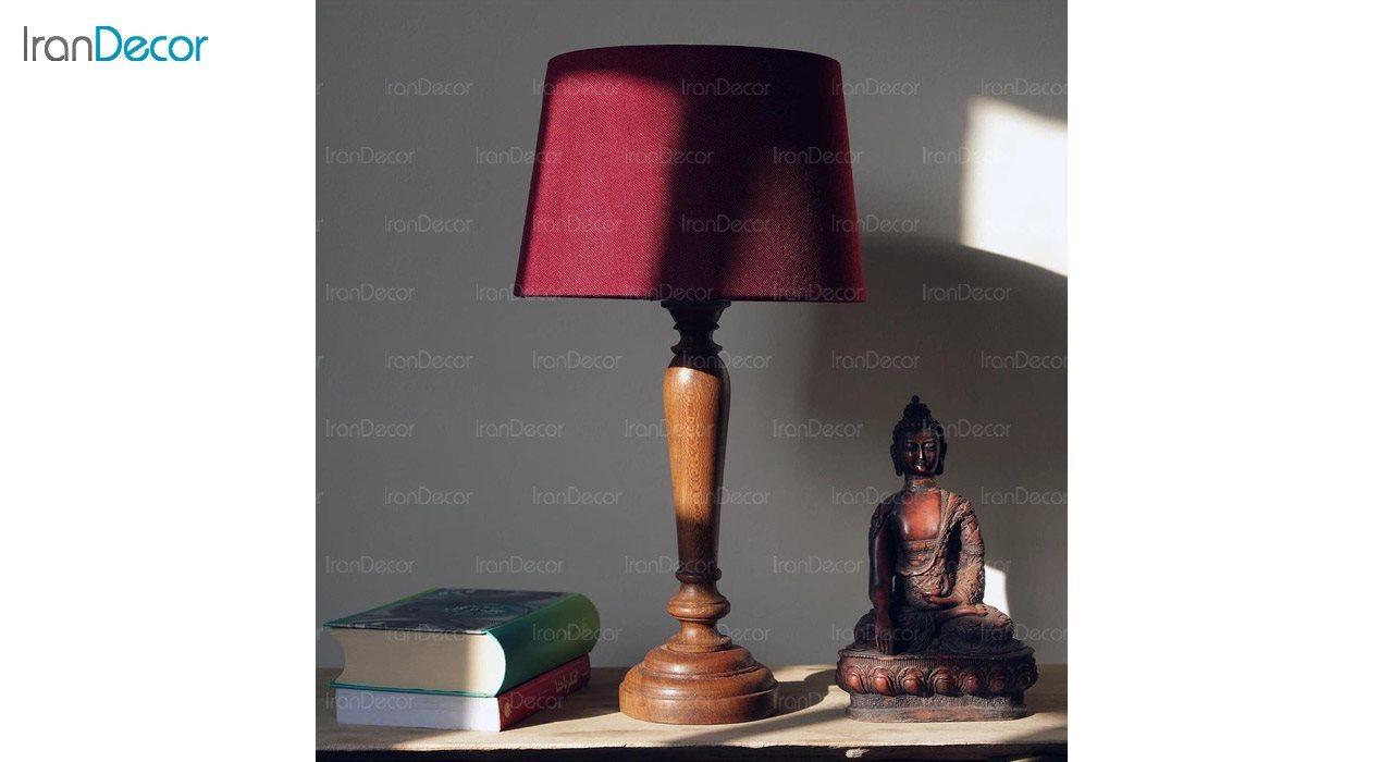 تصویر آباژور رومیزی چوبی مدل SH101