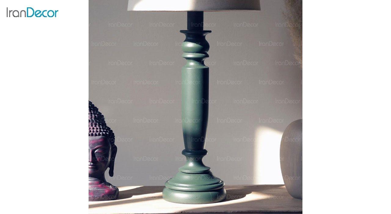 تصویر آباژور رومیزی چوبی مدل SH102