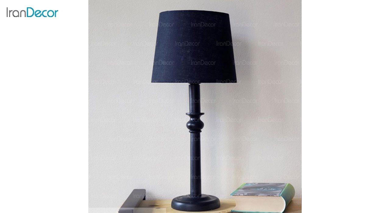 تصویر آباژور رومیزی چوبی مدل SH112