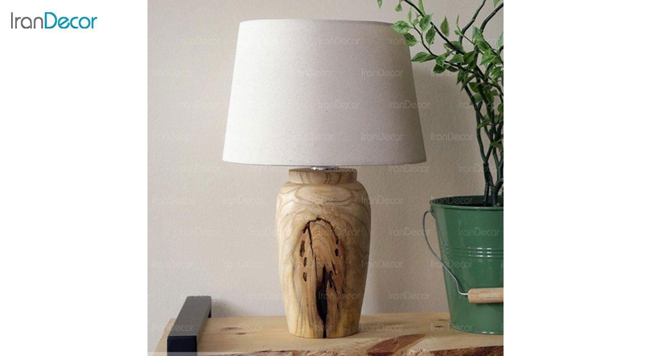 تصویر آباژور رومیزی چوبی مدل SH113
