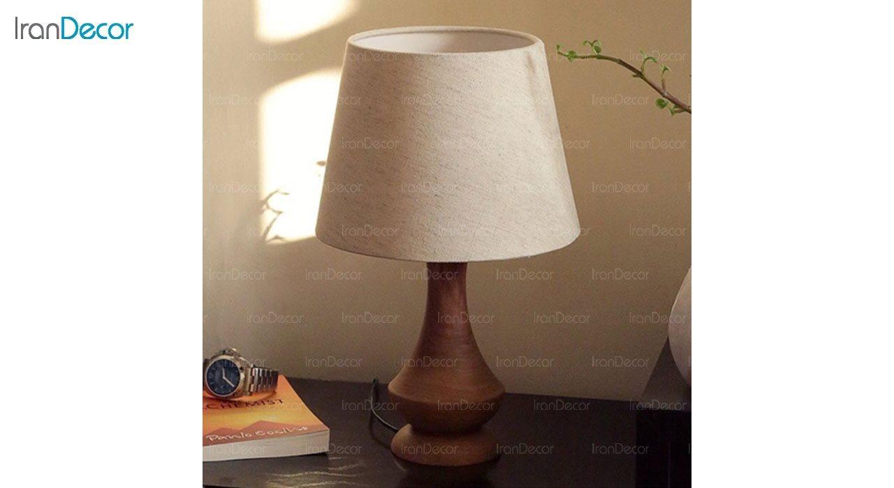 تصویر آباژور رومیزی چوبی مدل SH117