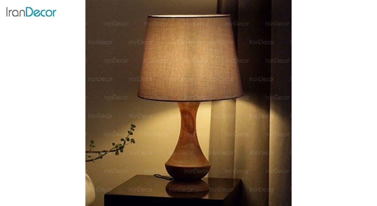 عکس آباژور رومیزی چوبی مدل SH117