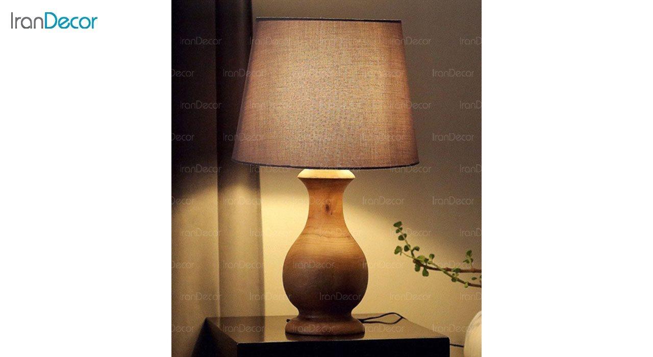 تصویر آباژور رومیزی چوبی مدل SH118