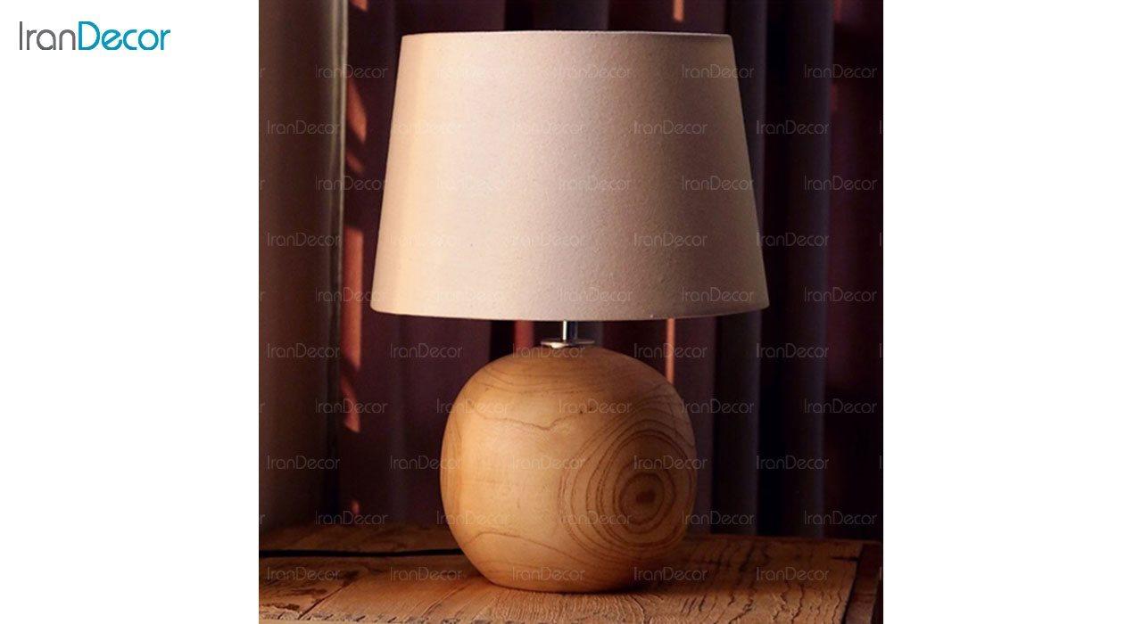 تصویر آباژور رومیزی چوبی مدل SH119