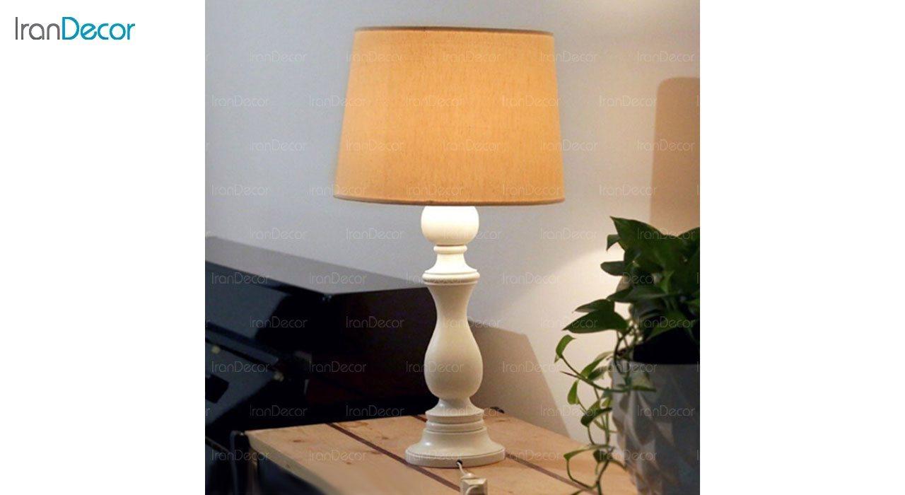 تصویر آباژور رومیزی چوبی مدل SH120