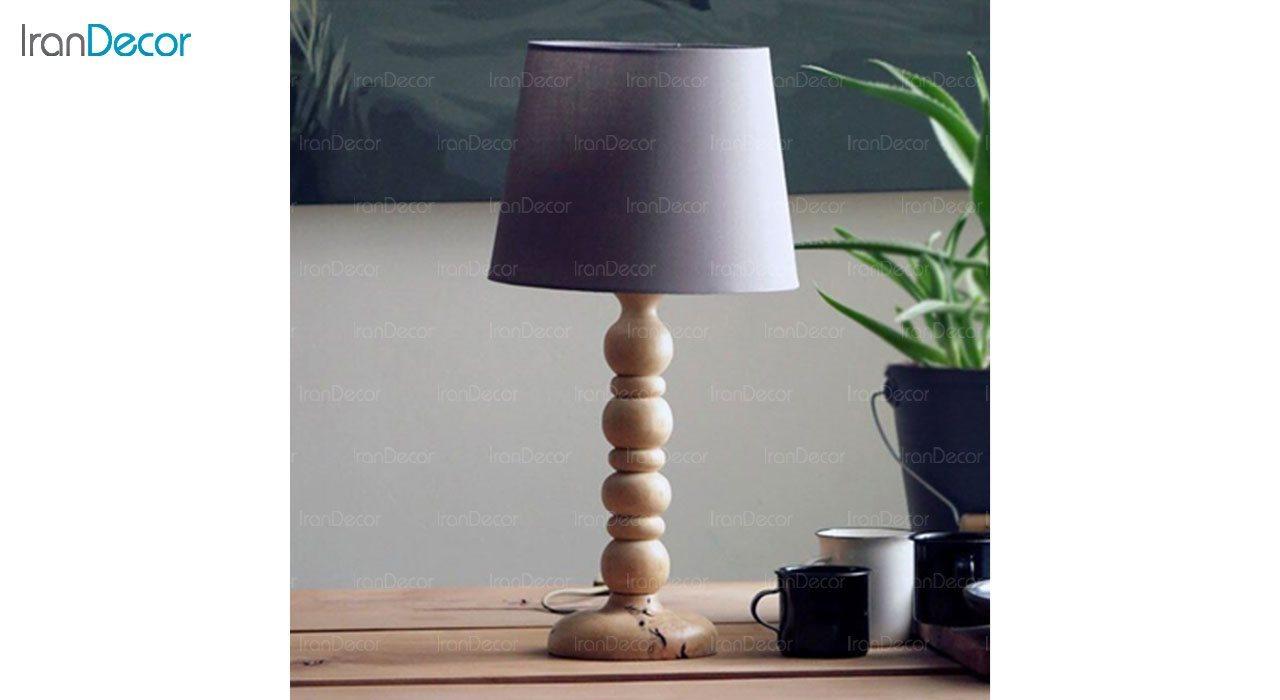 عکس آباژور رومیزی چوبی مدل SH124