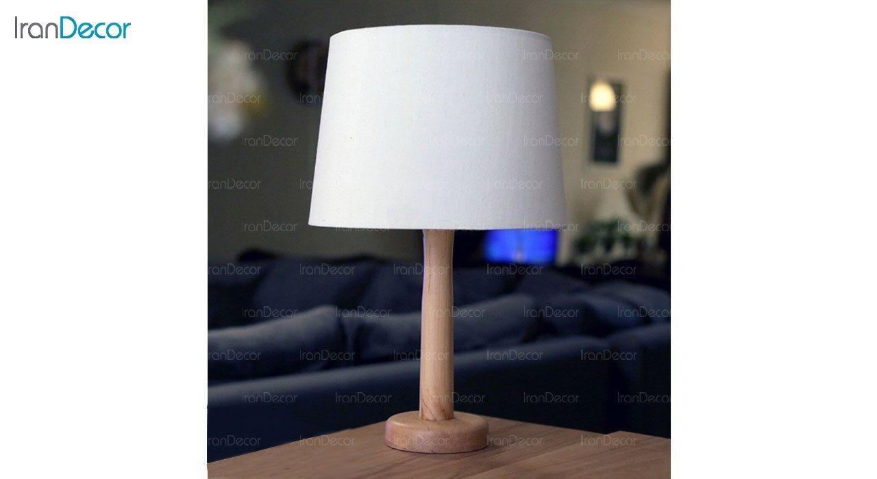 عکس آباژور رومیزی چوبی مدل SH125