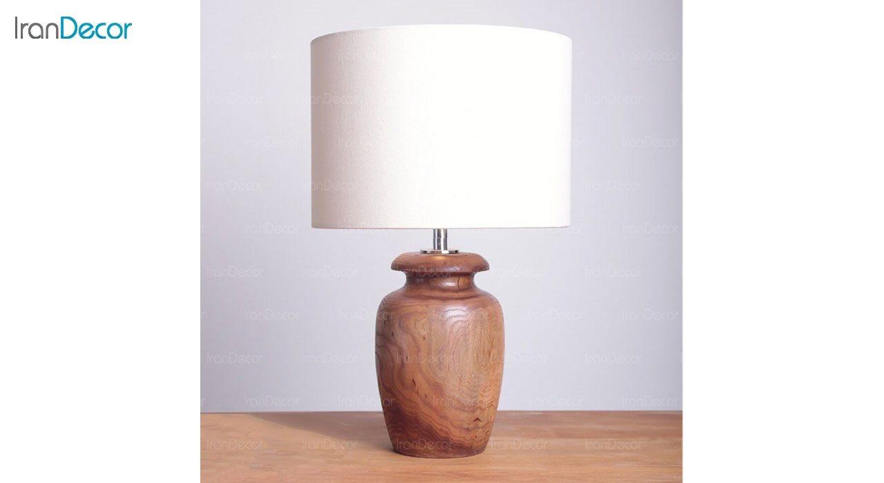 تصویر آباژور رومیزی چوبی مدل SH128