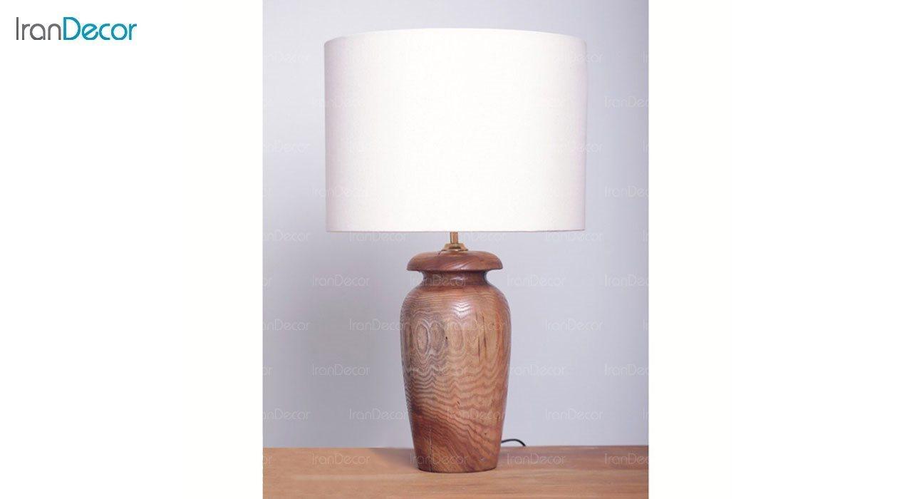 عکس آباژور رومیزی چوبی مدل SH128