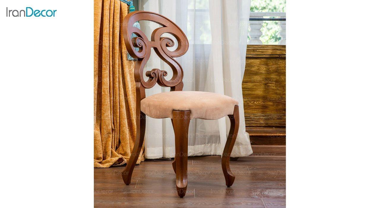 عکس صندلی ناهار خوری کلاسیک ماندگار مدل آریانا