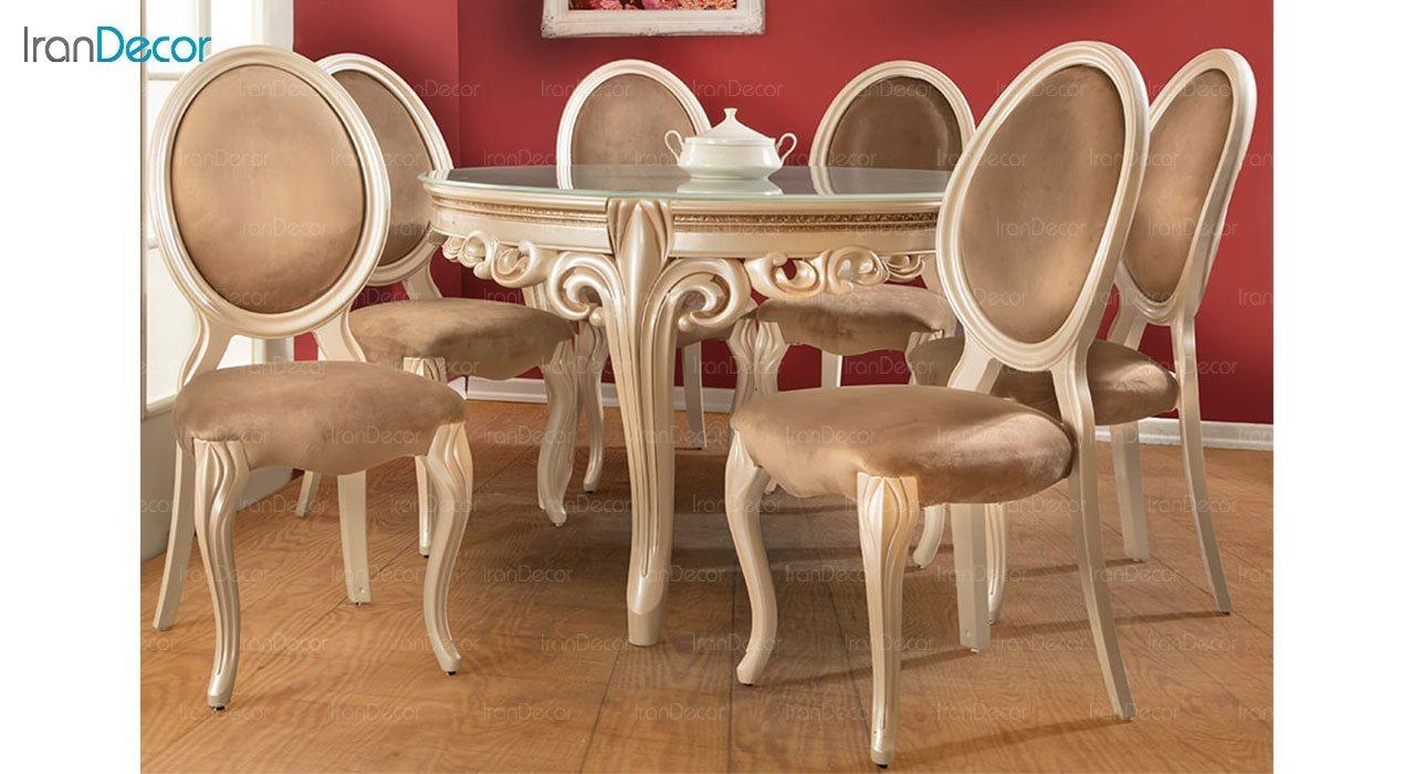 تصویر صندلی ناهار خوری کلاسیک ماندگار مدل پانیذ