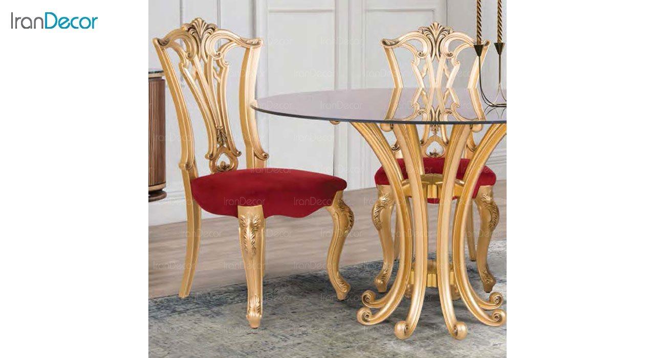 عکس صندلی ناهار خوری کلاسیک ماندگار مدل ویونا