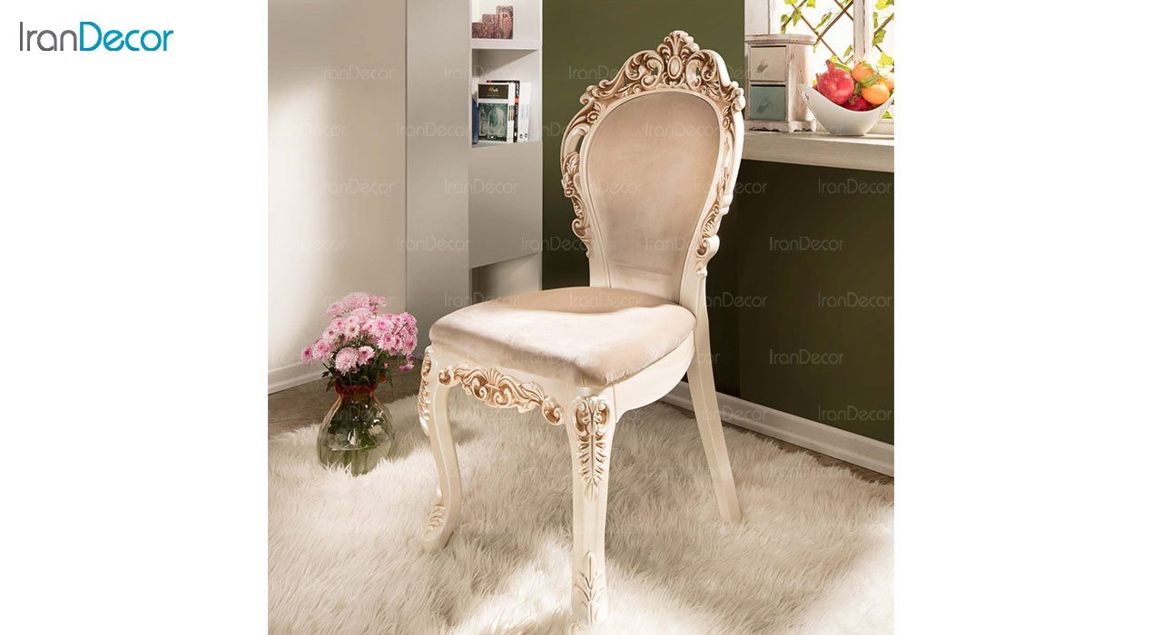 تصویر صندلی ناهار خوری سلطنتی ماندگار مدل هیوا