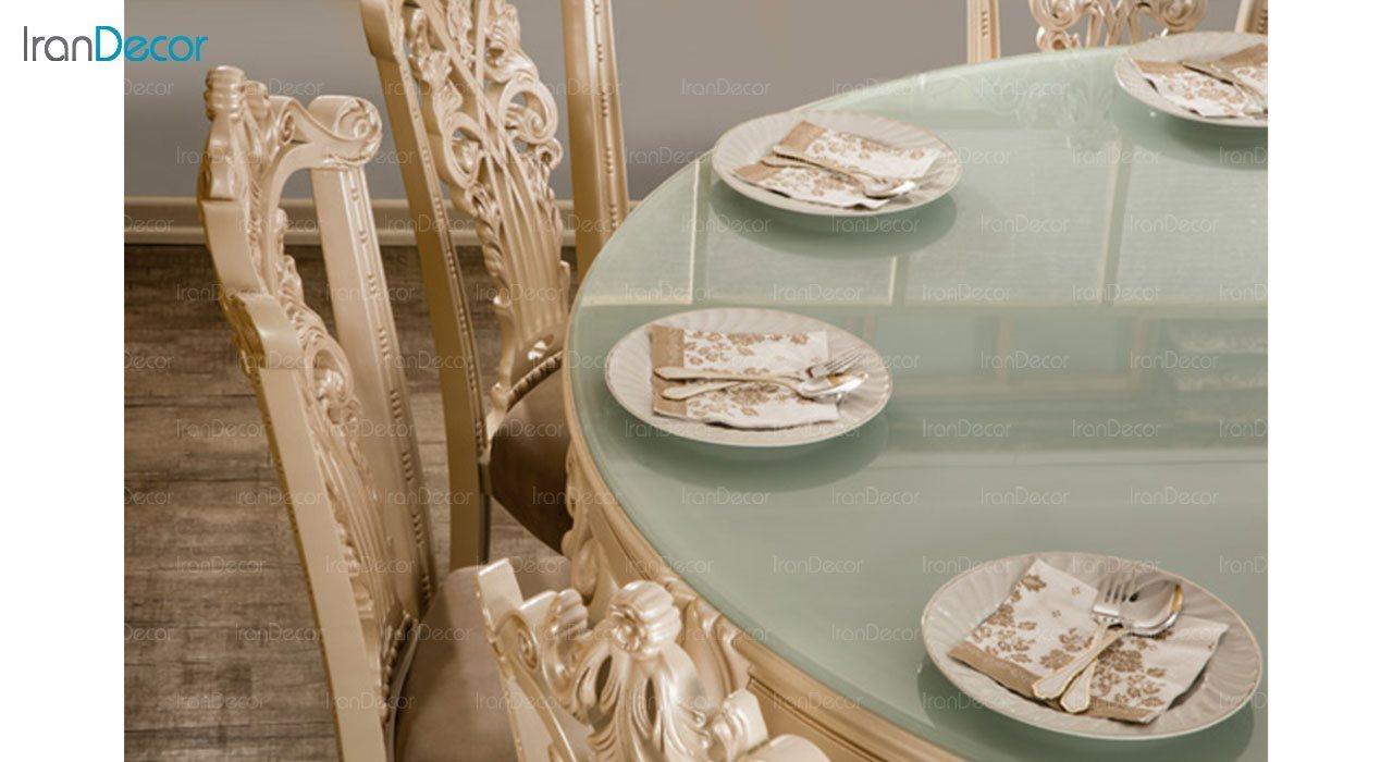 عکس سرویس ناهار خوری کلاسیک ماندگار مدل پانیذ با صندلی سپهرام