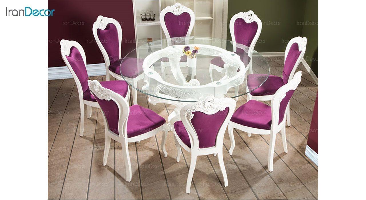 عکس سرویس ناهار خوری سلطنتی ماندگار مدل سپید
