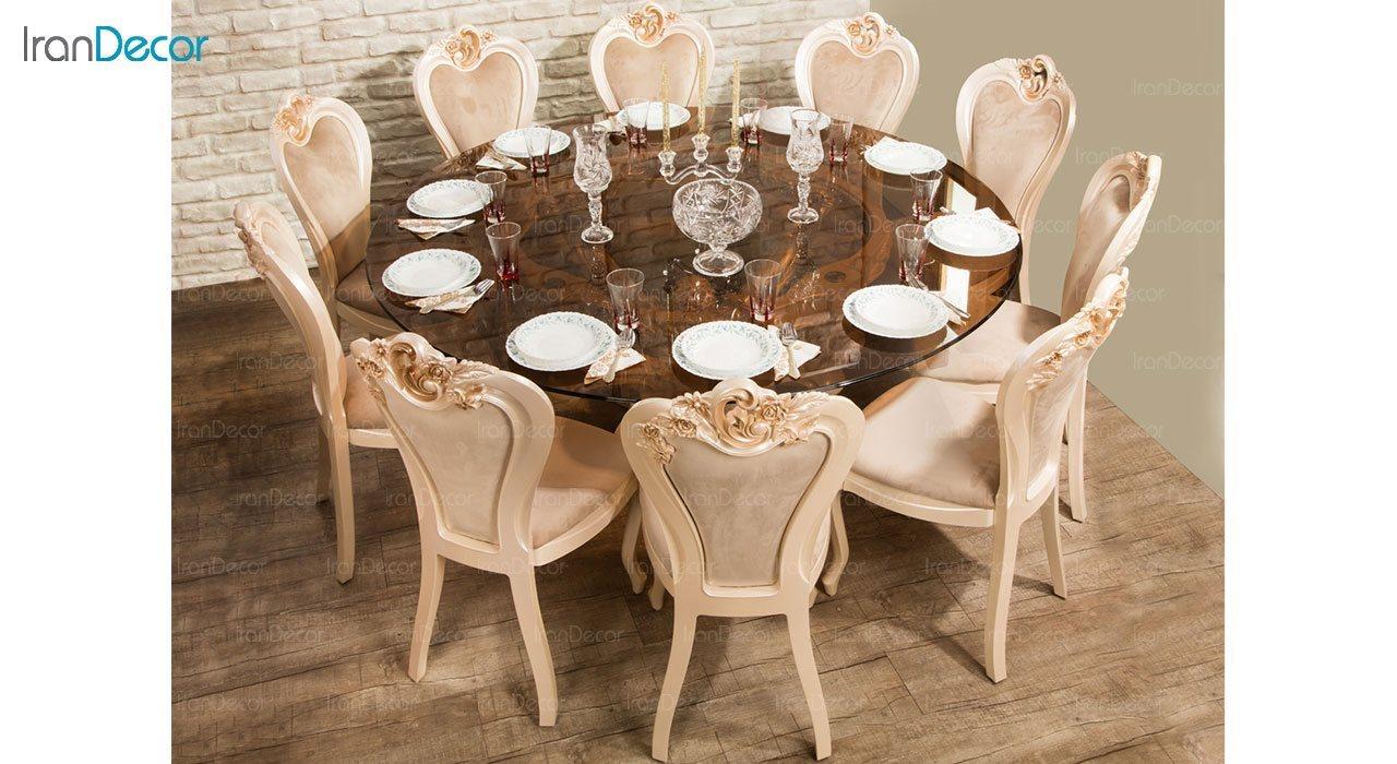 تصویر سرویس ناهار خوری سلطنتی ماندگار مدل سپید