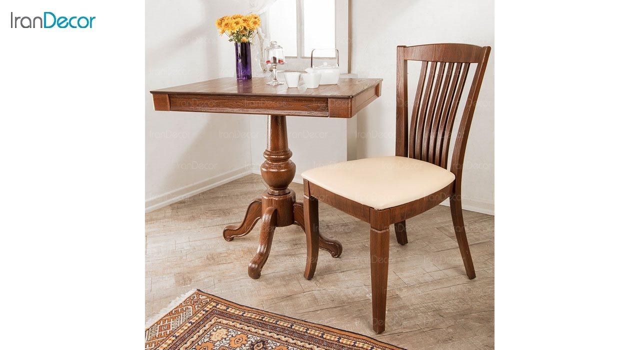تصویر سرویس ناهار خوری کلاسیک ماندگار مدل سپند با صندلی نایس