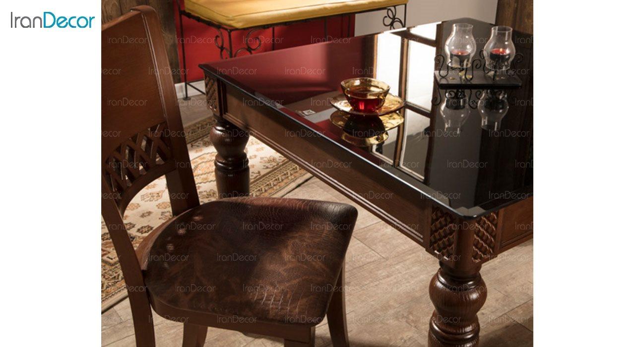 تصویر سرویس ناهار خوری کلاسیک ماندگار مدل نگین با صندلی پریا