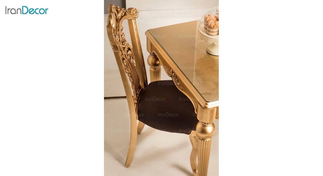 عکس سرویس ناهار خوری کلاسیک ماندگار مدل نگار با صندلی سپهرام