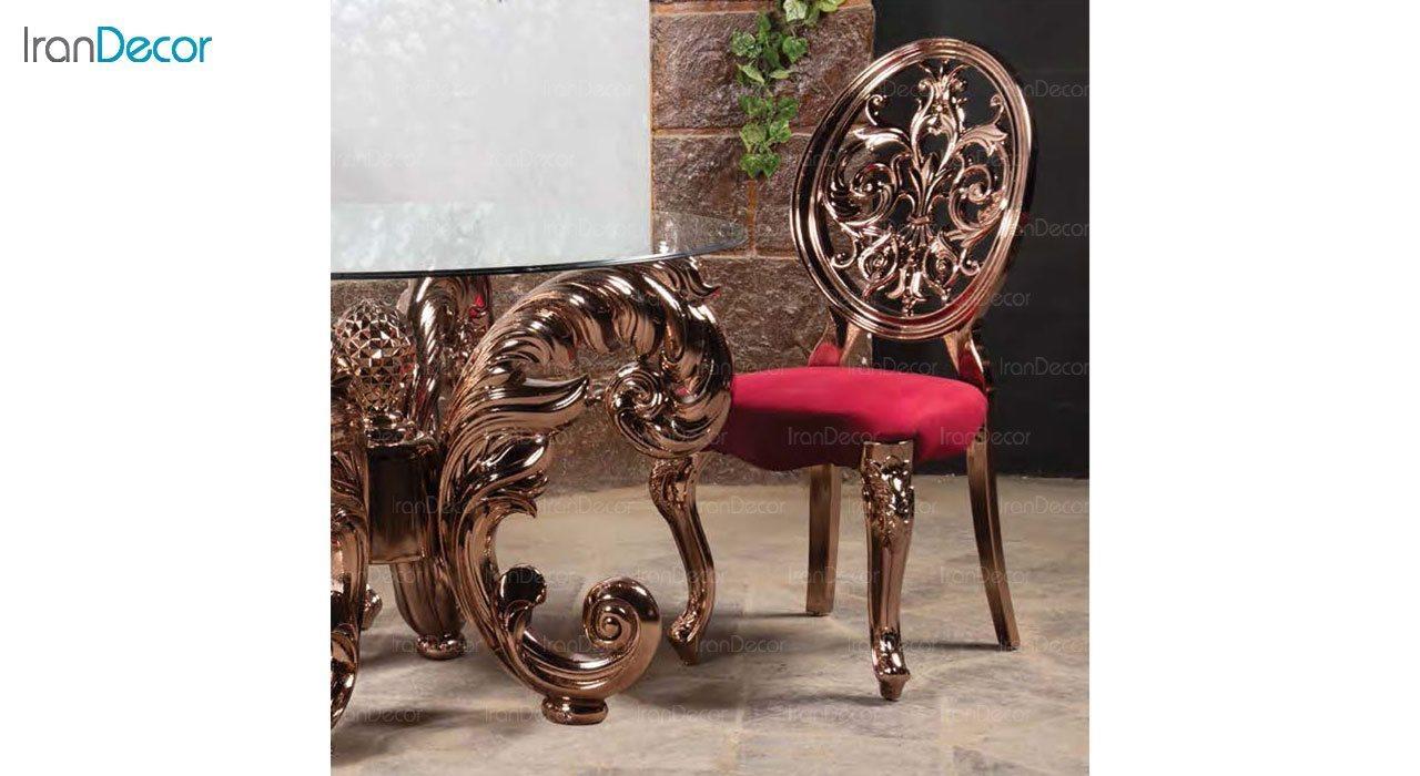 عکس سرویس ناهار خوری سلطنتی ماندگار مدل نیلا با صندلی روبینا