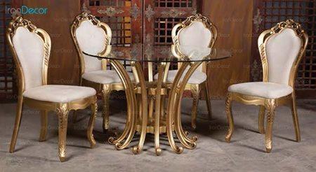 تصویر سرویس ناهار خوری کلاسیک ماندگار مدل النا با صندلی رجینا