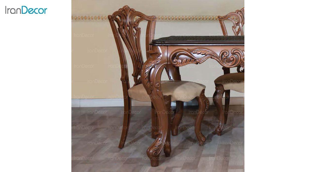 عکس سرویس ناهار خوری سلطنتی ماندگار مدل روبینا با صندلی ویونا