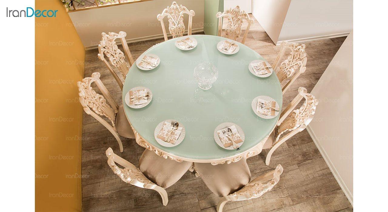 تصویر میز ناهار خوری کلاسیک ماندگار مدل پانیذ