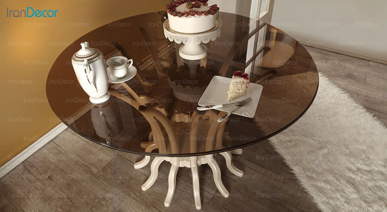 تصویر میز ناهار خوری کلاسیک ماندگار مدل پریا
