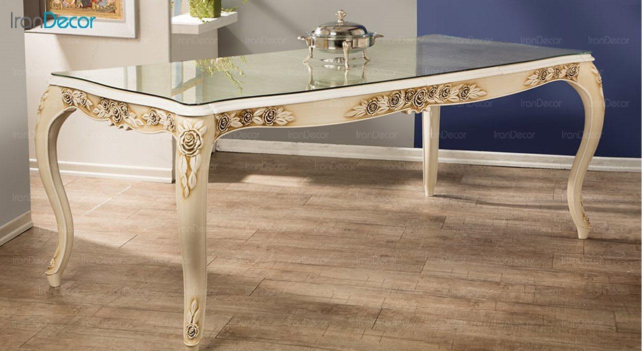 تصویر میز ناهار خوری سلطنتی ماندگار مدل رز