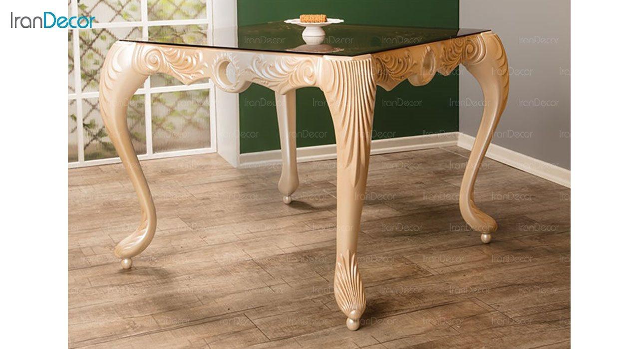 تصویر میز ناهار خوری سلطنتی ماندگار مدل سپهر
