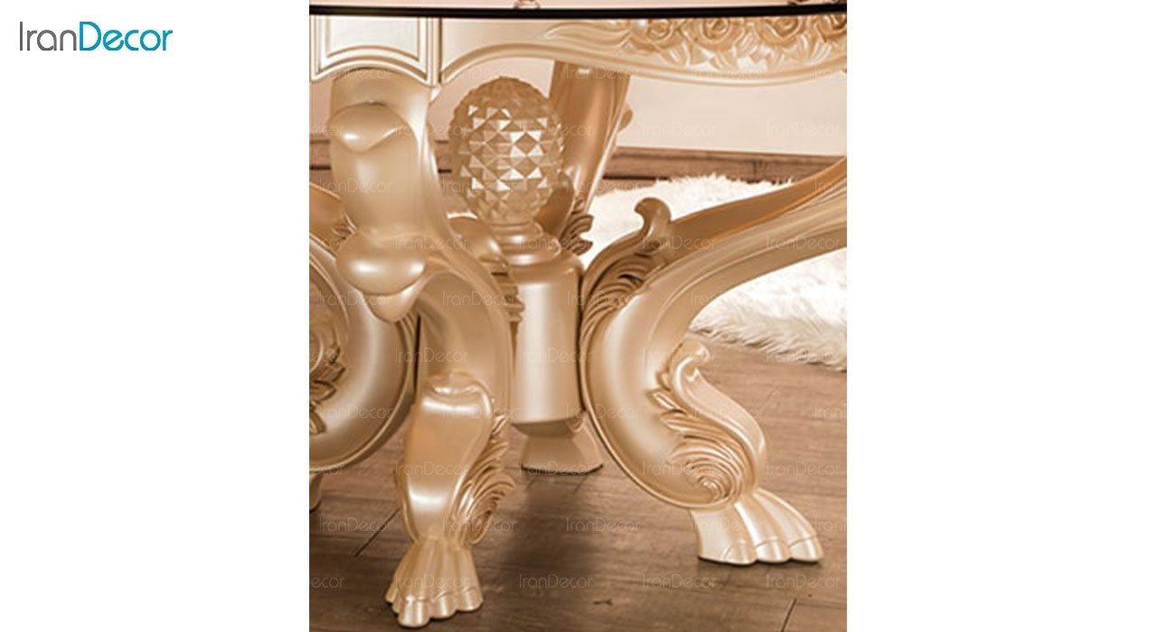 تصویر میز ناهار خوری سلطنتی ماندگار مدل سپید