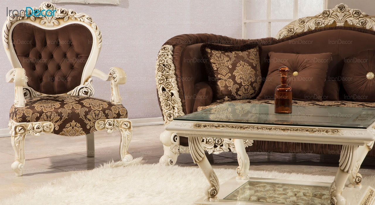 عکس سرویس مبلمان سلطنتی ماندگار مدل رز