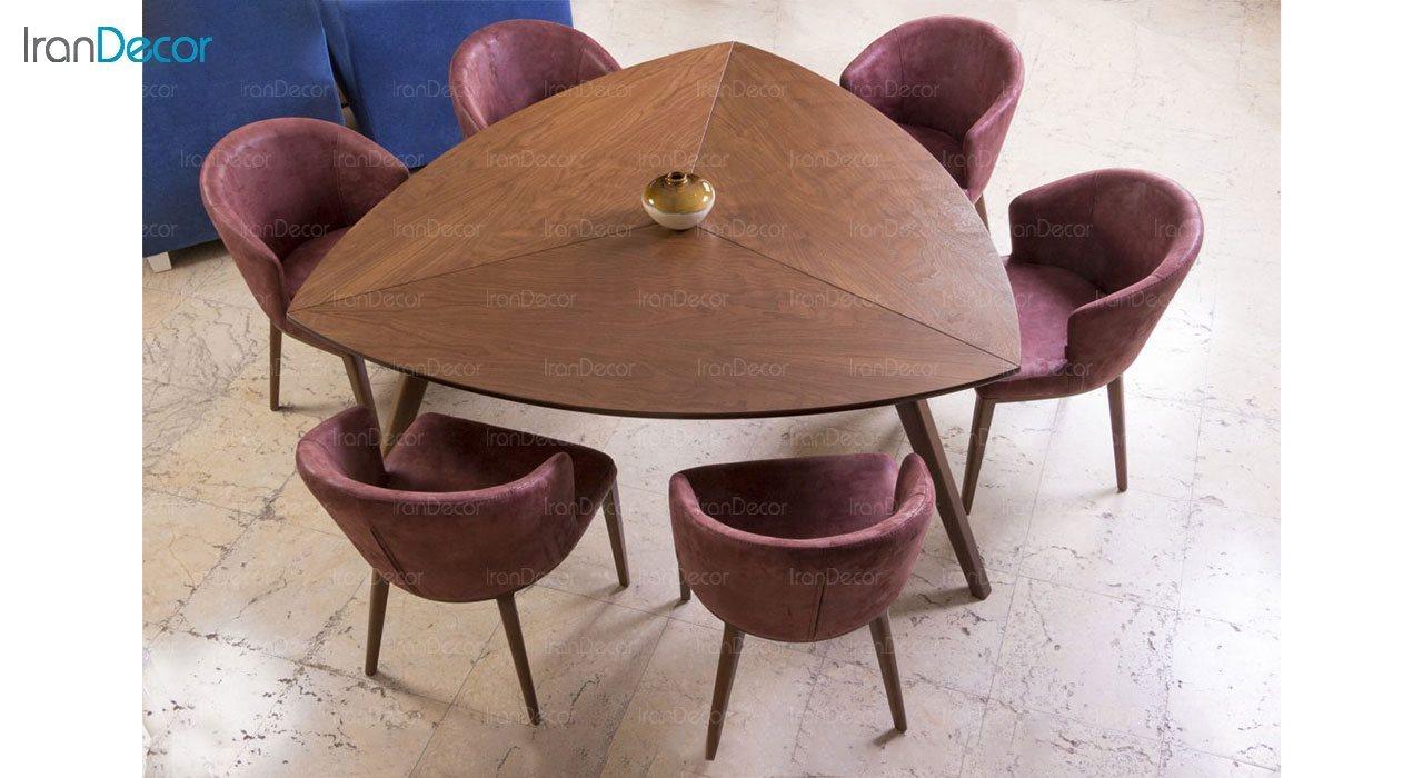 عکس سرویس صندلی و میز ناهار خوری الدورادو مدل پیک