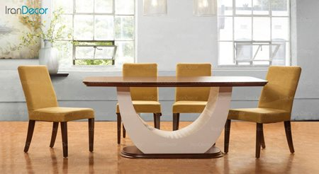 نصویر سرویس صندلی و میز ناهار خوری الدورادو مدل پلاتین