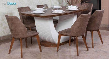 تصویر سرویس میز ناهار خوری الدورادو مدل پلاتین با صندلی مانا