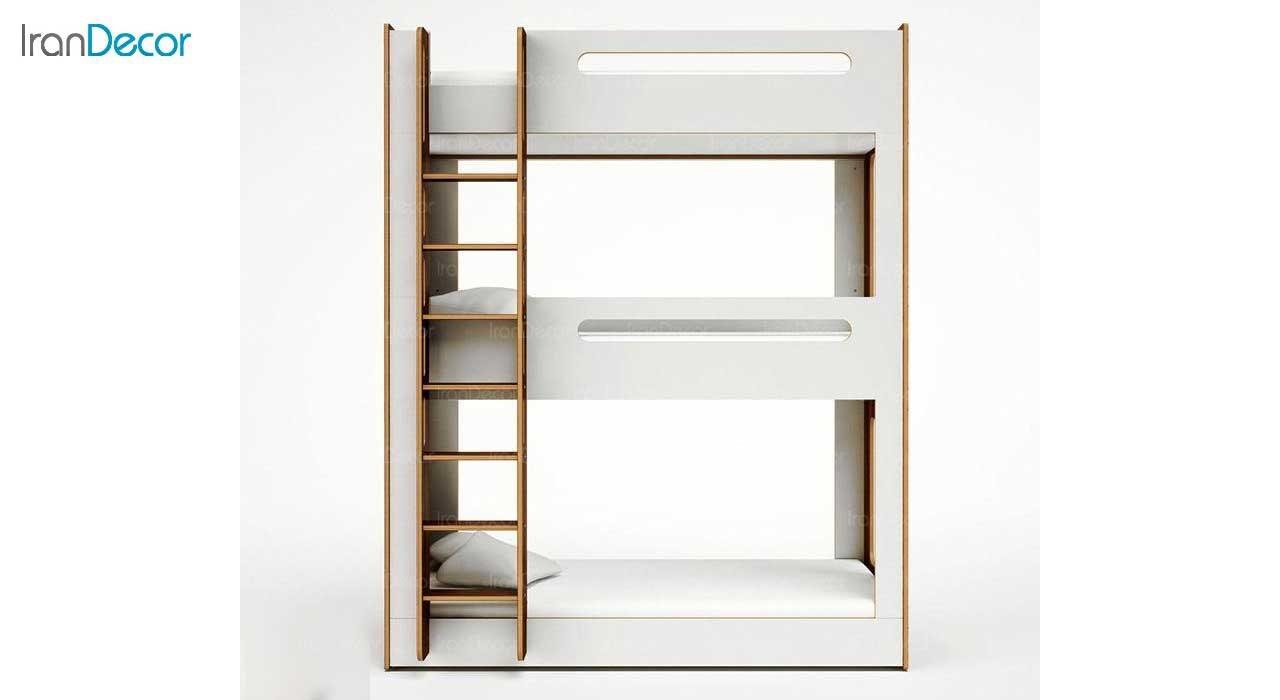 عکس تخت خواب سه طبقه دورمی مدل کازا