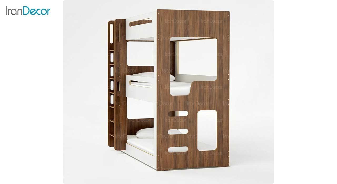 تصویر تخت خواب سه طبقه دورمی مدل کازا