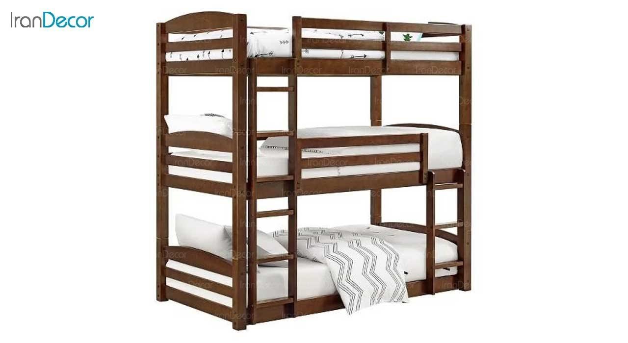 عکس تخت خواب سه طبقه دورمی مدل  دورل
