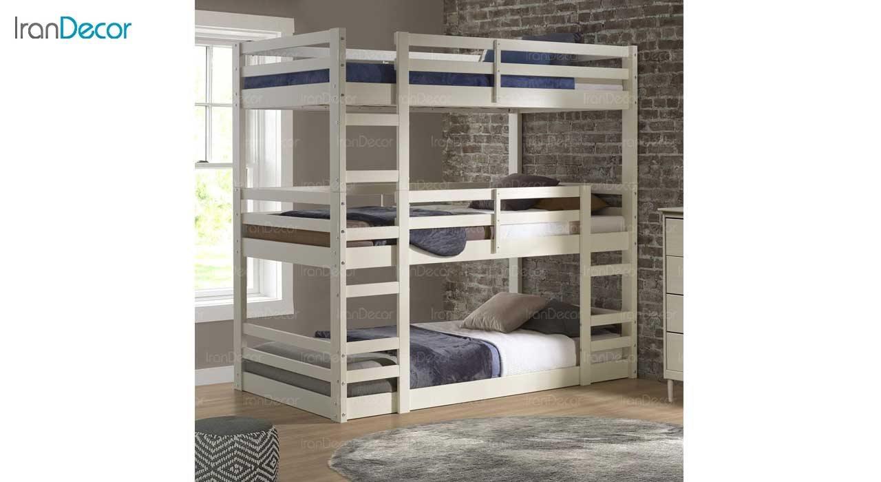 تصویر تخت خواب سه طبقه دورمی مدل  دورل