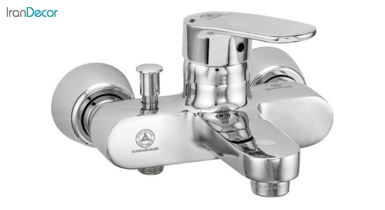 تصویر شیر حمام اهرمی قهرمان مدل مروارید کد 1005-1-234