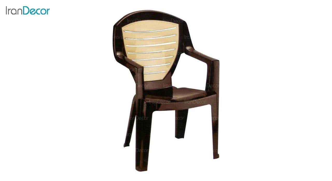 تصویر صندلی پلاستیکی دسته دار ناصر پلاستیک مدل 884