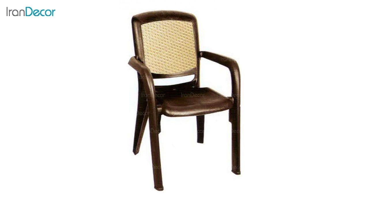 تصویر صندلی پلاستیکی دسته دار ناصر پلاستیک مدل 887