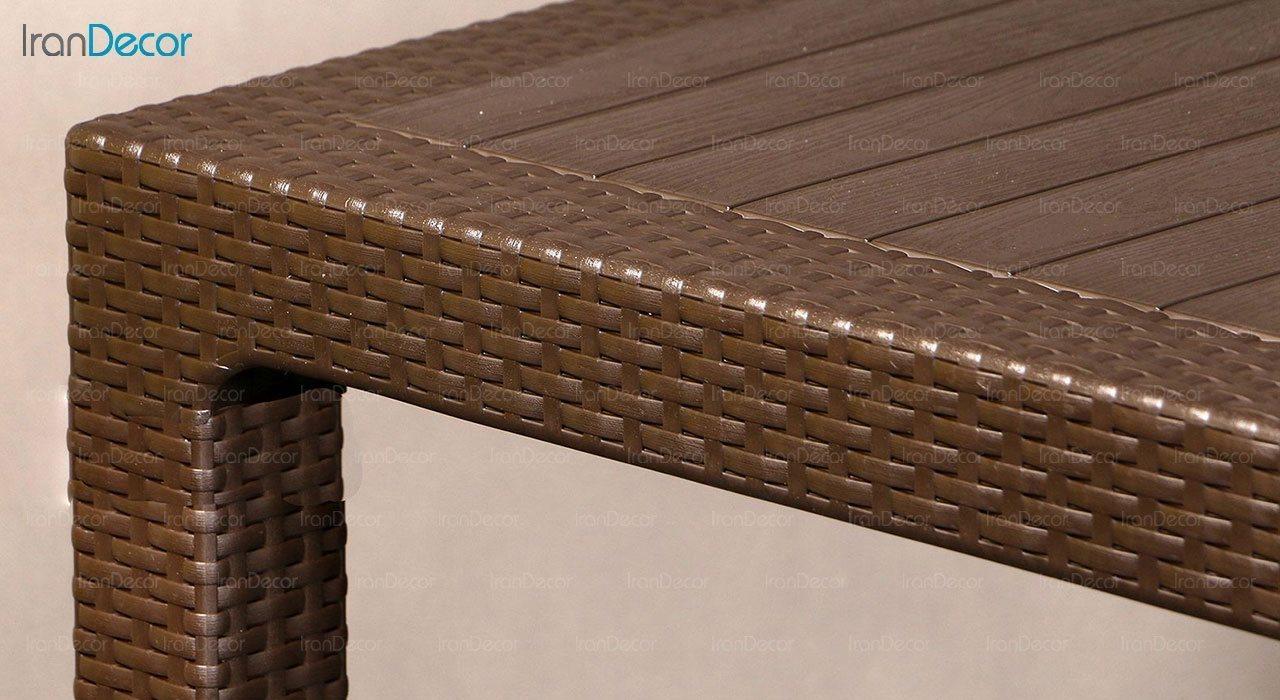 تصویر میز ناهار خوری مربع ناصر پلاستیک مدل 323