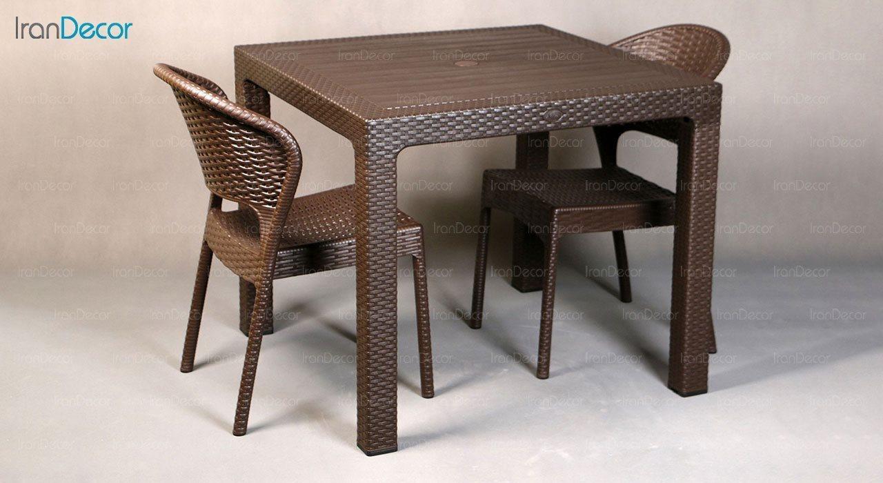 عکس میز ناهار خوری مربع ناصر پلاستیک مدل 323
