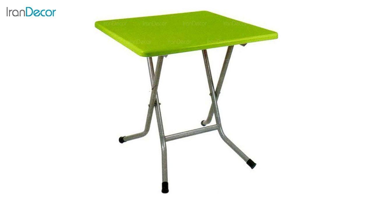 تصویر میز تاشو ناهار خوری مربع ناصر پلاستیک مدل 723