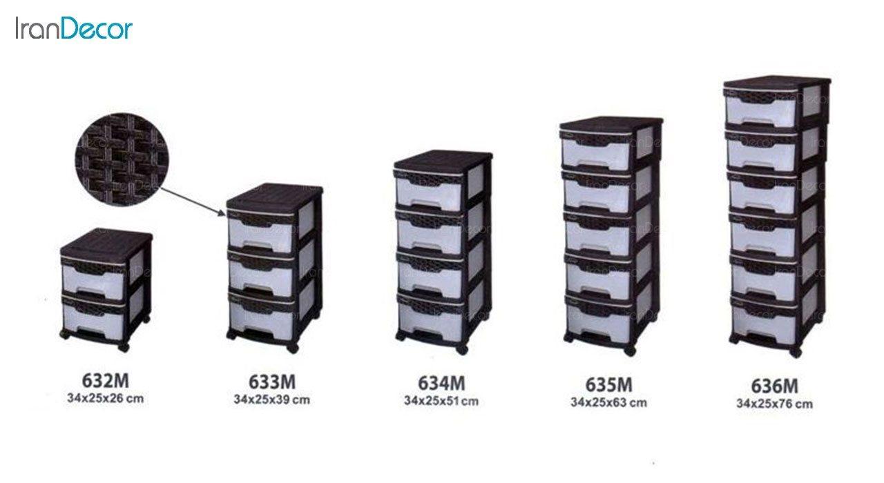 عکس فایل پلاستیکی پنج کشو ناصر پلاستیک مدل 635M