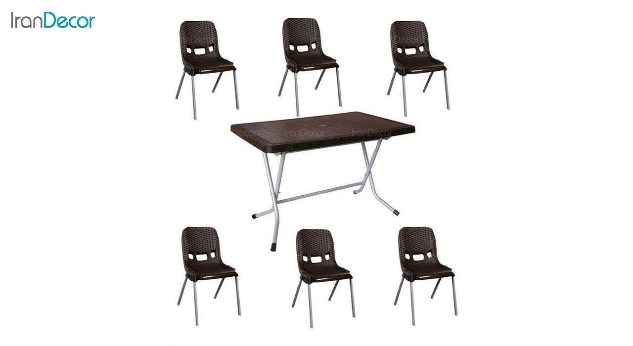 تصویر ست میز و صندلی پلاستیکی ناصر پلاستیک مدل 881521